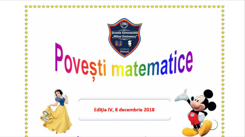 """S-au afișat rezultatele la concursul """"Povești Matematice"""" 2018/2019!"""