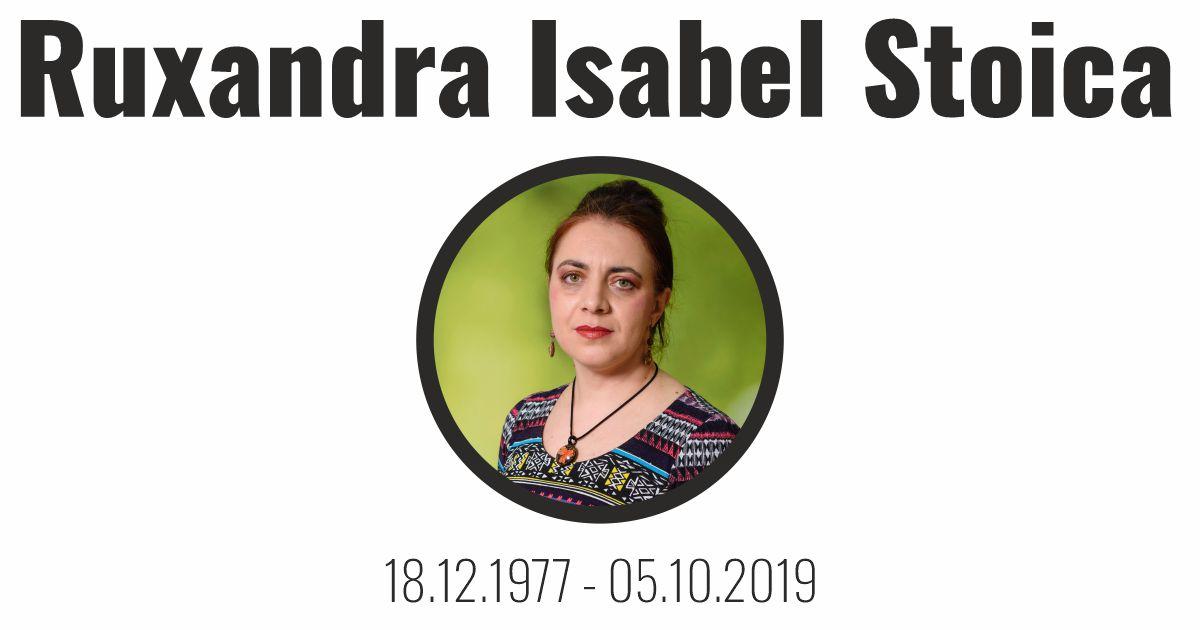 Ruxandra Isabel Stoica – RIP – FB