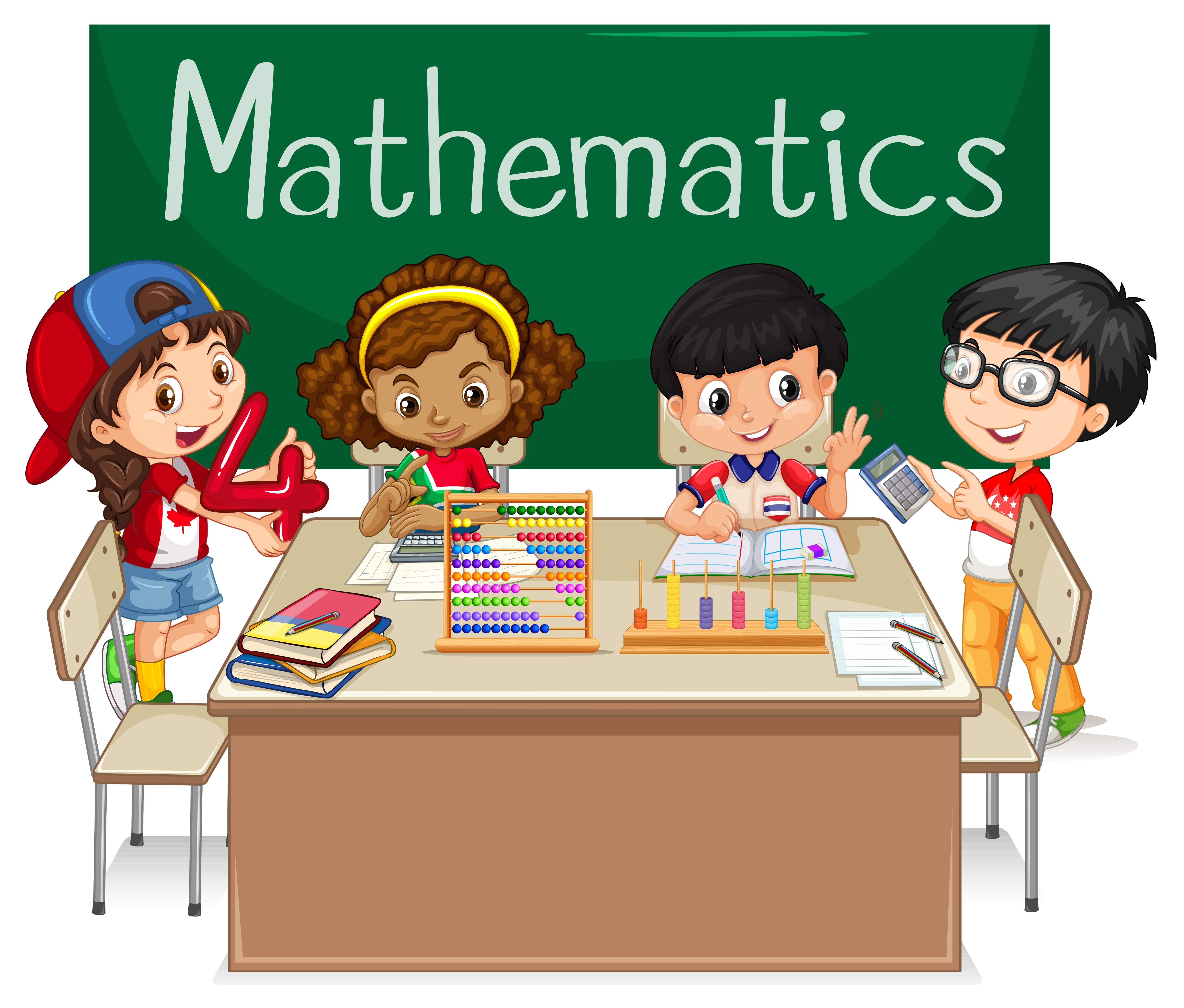 School subject for Mathematics with kids in class
